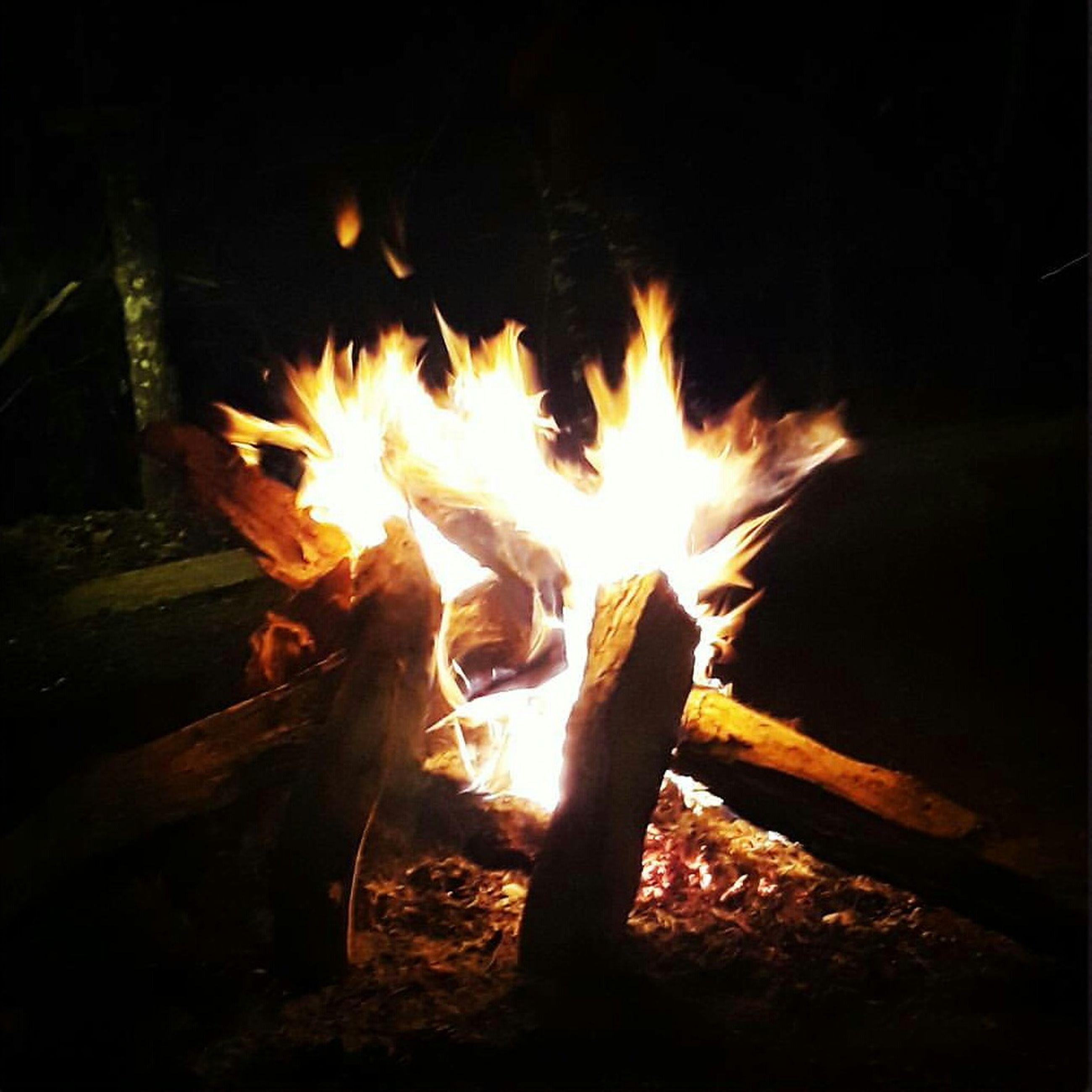 flame, fire - natural phenomenon, heat - temperature, burning, night, dark, outdoors, illuminated, bonfire, no people, close-up, fire pit