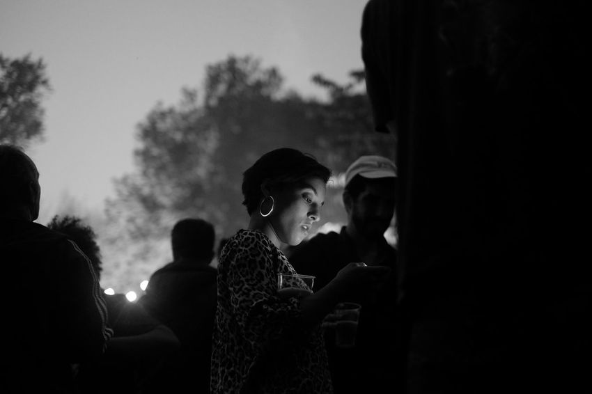 Phones can make great lights sometimes. Maybe in the end, there is good in everything // Geneva, Switzerland Blackandwhite Light And Shadow Nightphotography Party Phones Portrait Portrait Of A Woman Streetphotography