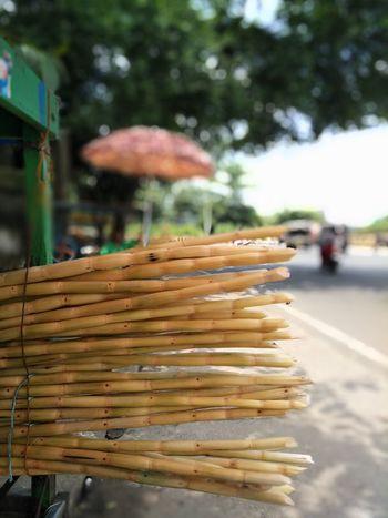 Sugarcane juice for hot Indian summers. Outdoors Food Stack Day Sugarcanejuice Sugarcane Seller No People Close-up Focus On Foreground EyeEm Eyemindia EyeEm Best Edits EyeEmBestPics Eyem Photos EyeEmNewHere