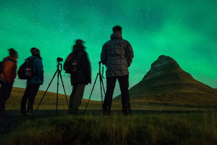 Astronomy Aurora Aurora Borealis Casual Clothing Discovery Exploration Exploring Galaxy Grass Iceland Iceland_collection Kirkjufell Landscape Milkyway Nature Outdoors Sky Standing Star - Space The Great Outdoors - 2016 EyeEm Awards Unrecognizable Person
