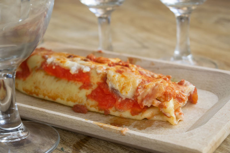 cannelloni with filling of meat Bolognese Cannelloni Filled Filling Meat Pasta Sauce Tomato