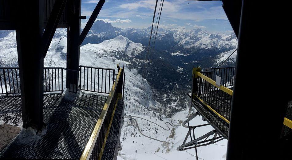 Winter Ski Lift Snow Cold Temperature Mountain Winter Overhead Cable Car Tree Frozen Sunlight Weather