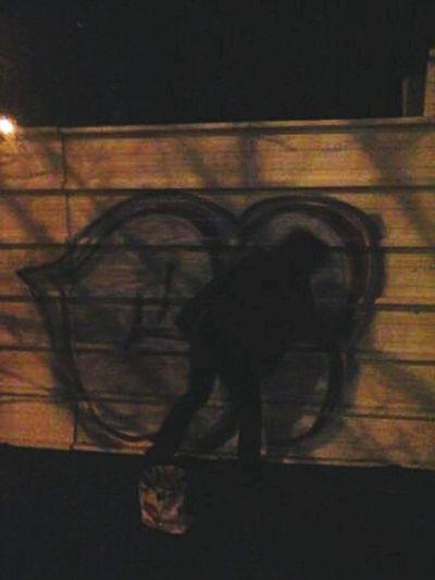 Notes From The Underground Vandalism photo by DAS.