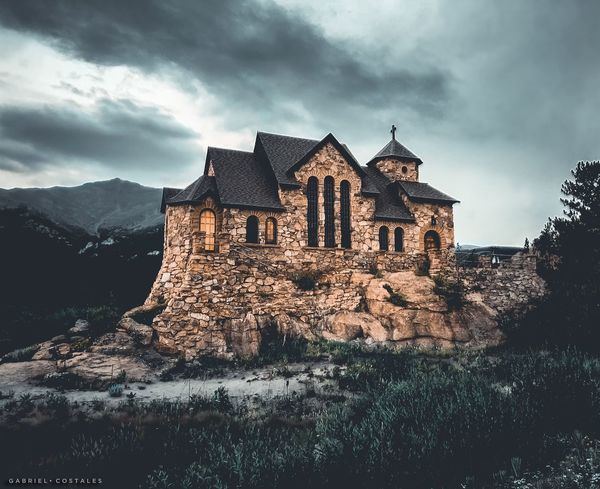 Chapel on the Rock - Allenspark, Colorado Sky Building Exterior Built Structure Cloud - Sky Building Nature History The Past No People Religion Place Of Worship Old Belief Low Angle View Spirituality Travel Destinations Outdoors Ruined
