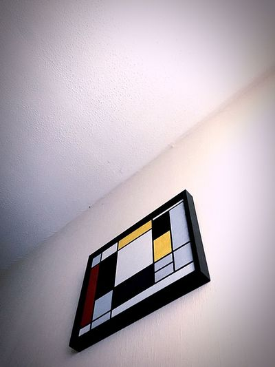 Opa is a painter No People Indoors  Architecture Day Painting Inspired By Mondrian Colour Palette Geometric Shapes Low Angle Shot White Background