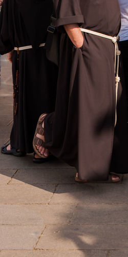 Assisi, Italy Franciscan Order Belief Body Part Clothing Day Event Footpath Friars Government Human Body Part Human Leg Human Limb Lifestyles Low Section Men People Performance Real People Religion Spirituality Standing Traditional Clothing Two People Uniform