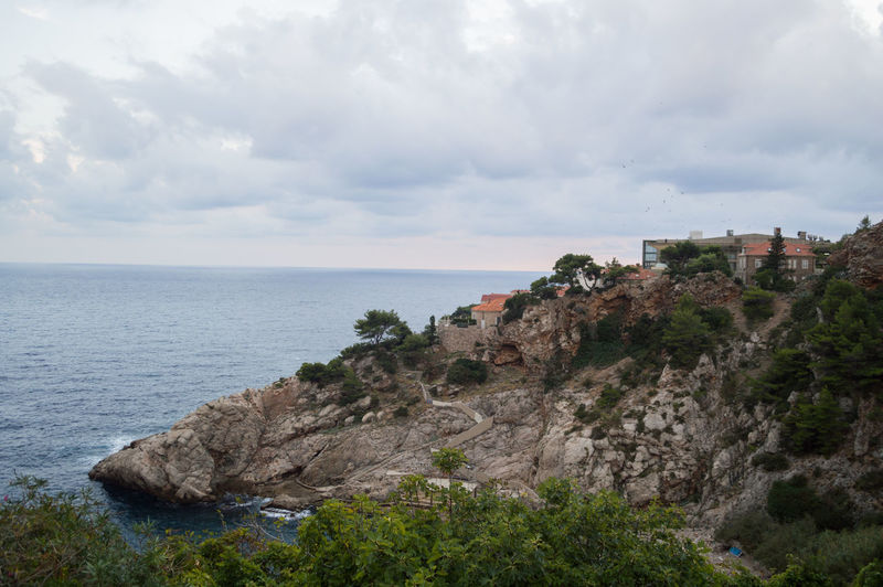 Scenic View Of Sea And Cliff