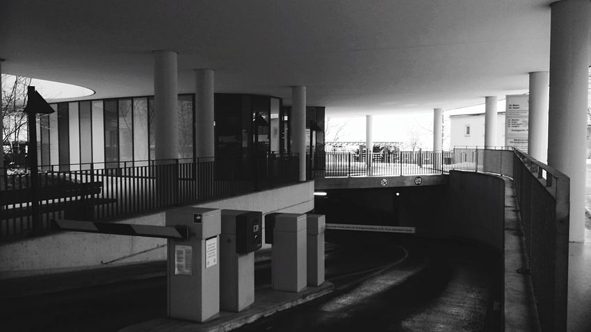 Portals To The Underground Cold Modernity Blackwhite Postcubism Lerone-frames Garage No Cars In This Picture Light And Shadow Here Is Hades Rule Of Thirds Architecture_bw