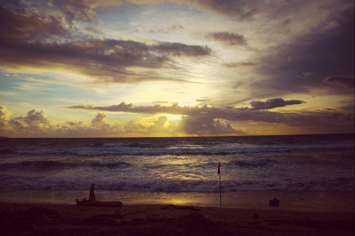 sunset at kuta beach, Bali Sea Sunset Sunset View. Enjoying The Sunset Clouds And Sky Bali Pantai Kuta (Kuta Beach)