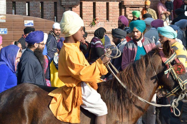 Chamkaur Sahib Day Horse Riding Lifestyles Mammal Men Nihangsingh Outdoors People Real People Religion Sikhism