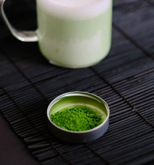 Close-up of tea served on table
