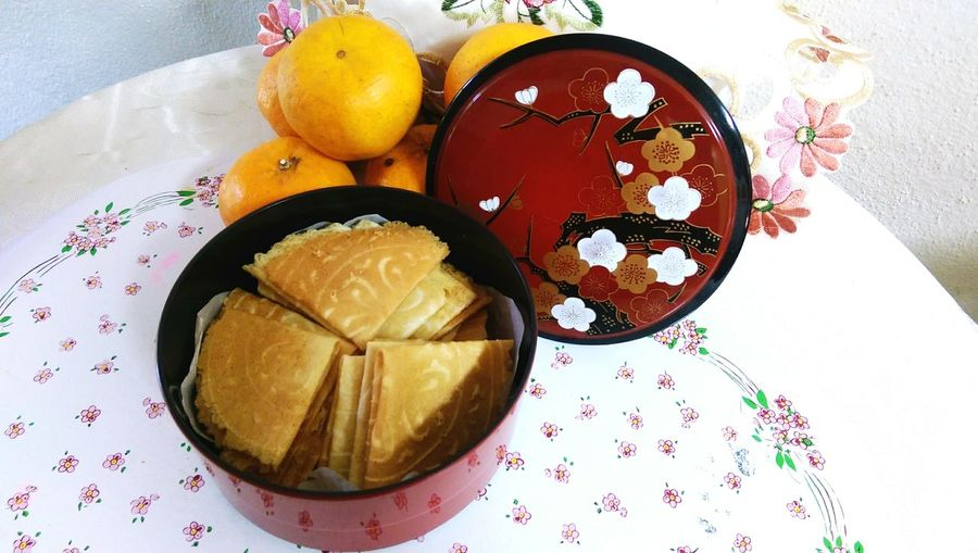No People Close-up Indoors  Chinese New Year Food Cultural Heritage Kuih Kapit Chinese Traditional Food Chinese Traditional Style Seasonal Food