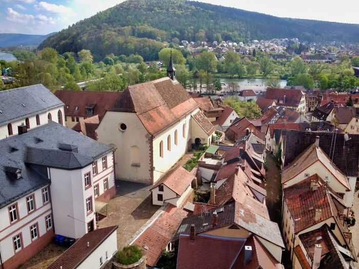 Lohr am Main Spessart Forest Spessart  Main Architecture Built Structure Building Exterior Building Roof City High Angle View Town Day Outdoors TOWNSCAPE