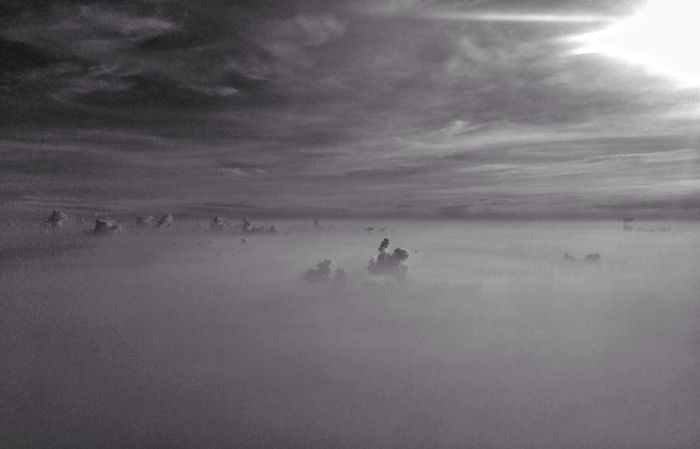 Fantasia From An Airplane Window Clouds And Sky Monochrome Bw_collection