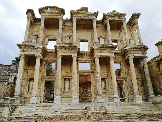 Ephesuslibrary Ephesus Wonderful View Helenistik Greek History Ephesus - Turkey Exciting Turkey Roman History Architecture Amazing View