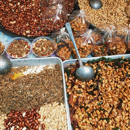 mixed nuts Malaysia Nuts Nut Food Food And Drink For Sale Wellbeing Healthy Eating High Angle View Market Freshness Large Group Of Objects Abundance Choice Still Life Variation Container Day No People Market Stall Spice Retail  Fruit
