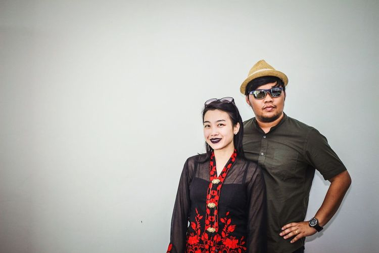 The mordern nyonya EyeEm Selects Two People Men Couple - Relationship Togetherness Clothing Smiling Heterosexual Couple Happiness Young Adult Portrait Love People Women Wall - Building Feature Indoors  Young Men Emotion Glasses