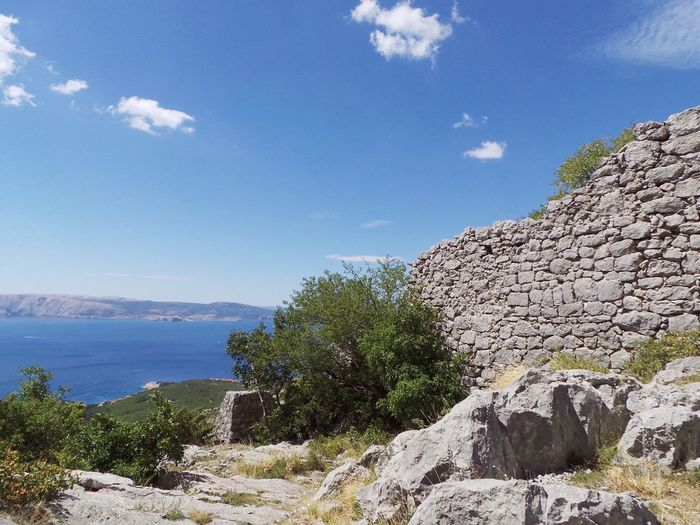 Croatia Ruins Ruins Of A Castle Beauty In Nature Blue Cliff Day Landscape Ledenice Mountain Nature No People Novi Vinodolski Outdoors Rock - Object Ruins Architecture Scenics Sea And Sky Sky Tranquil Scene Tranquility Tree Water