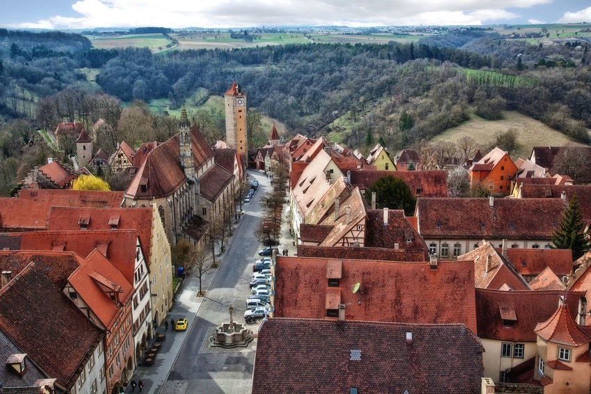 Rothenburg from above Ancient City Architecture Germany History Place Of Worship Residential District Rooftop View  Rothenburg Village View
