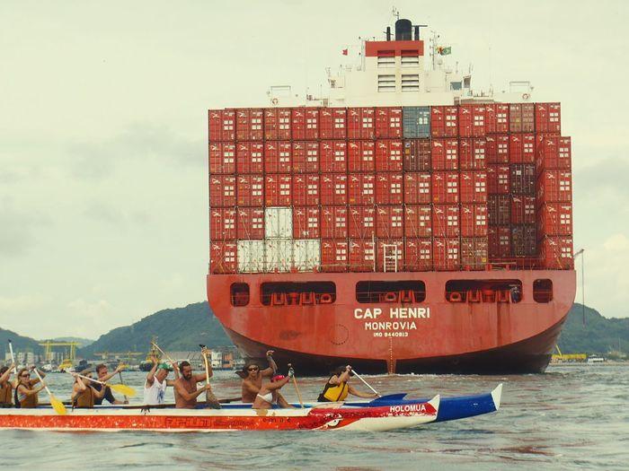 Outrigger Canoe Catamara Portodesantos Canaldesantos Aloha