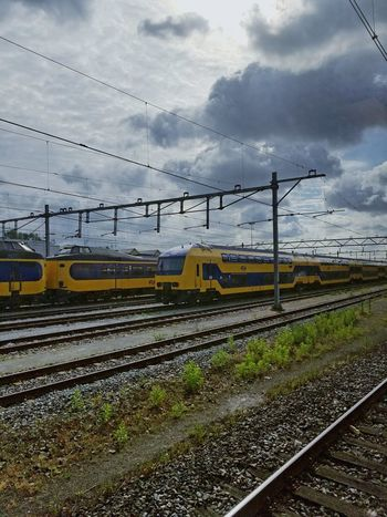 Train Amsterdam Centraalstation Lets Go. Together. Sky Cloud - Sky Transportation Travel Destinations Mode Of Transport Perspective No People Let's Go. Together.