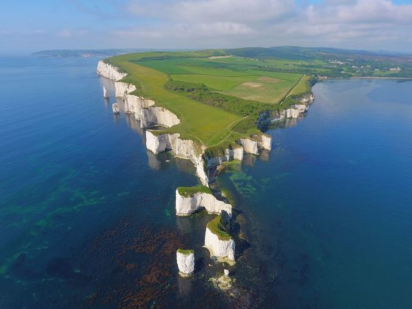 Old Harry's Rock - Dorset, UK Drone  Dronephotography Aerial View National Trust Hiking Nature Nature_collection Water Sea Nature Beauty In Nature Scenics No People Tranquil Scene Tranquility Day Outdoors Sky Waterfront Landscape Horizon Over Water The Great Outdoors - 2017 EyeEm Awards