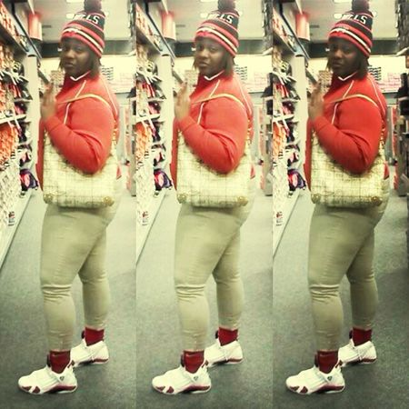 Swagg Red Nike Its Me Jordan Swagg Thick Donk DopeAf