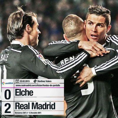 BBC Christiano Ronaldo Madrid Madridista Real Halamadrid Hala Benzema Bale  Gareth Karim  Champions Score Soccer Liga Elche LaLiga BBVA Football 4 Cr7 Campione