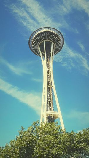 Hello World Enjoying Life Seattle Space Needle Dreaming