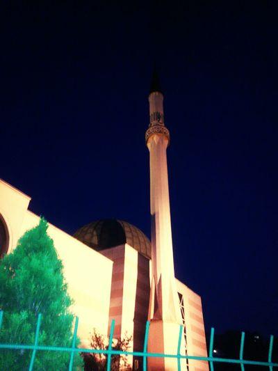 Islamic Architecture Ensar Dzamija Naight Lights Naight Araund With Me City Illuminated Sky Architecture