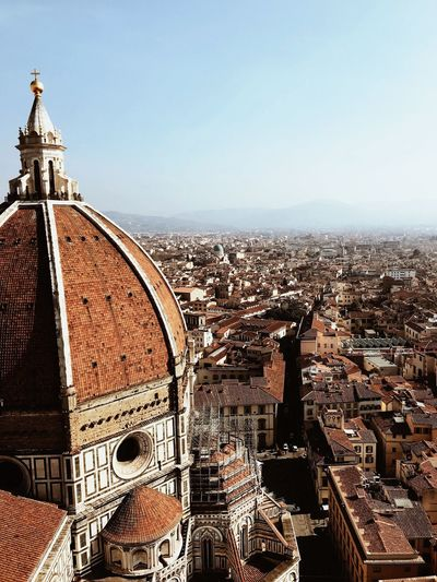 Firenze Duomo Cattedrale Di Santa Maria Del Fiore Cathedral Of Saint Mary Of The Flower Italy Florence Architecture Building Exterior Built Structure Sky City Building Nature Religion No People Tourism Clear Sky Travel Destinations Spirituality First Eyeem Photo