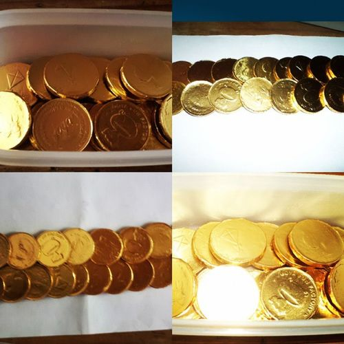 Edible Chocolate Gold Coins ??? No mountain made of money can buy you a soul. Oh you can see it,Oh i can feel it coming down. Girlversion Kingmidas Shutup Makeme ediblecoins