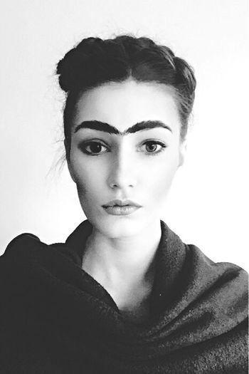 Frida Frida Kahlo Blackandwhite Black & White Poland Polska Warsaw Black And White Photography Portrait That's Me Enjoying Life