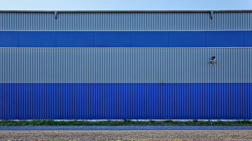 Surveillance. Bremen 2011 Video Surveillance Video Überwachung Blue Corrugated Iron Industry Security Camera Surveillance Camera überwachungskamera überwachung