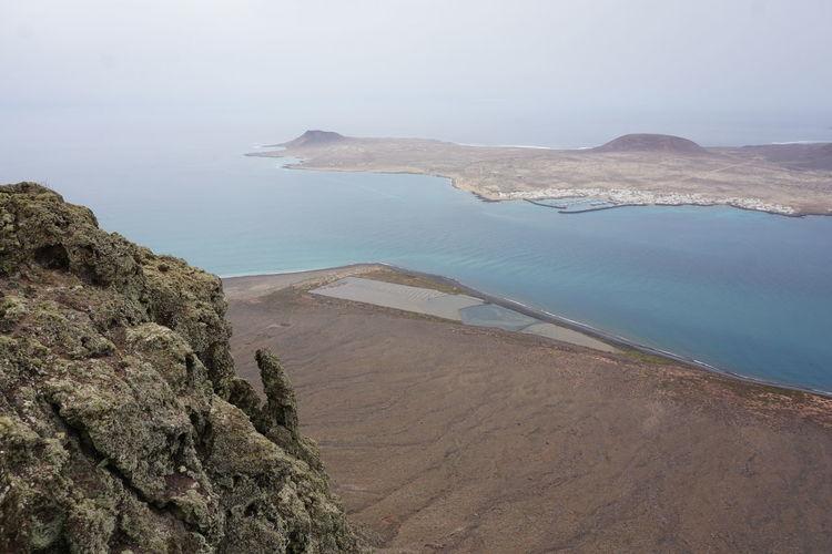 Atlantic Atlantic Ocean Canary Islands Holiday Town La Graciosa Lanzarote Lanzarote Island Caleta Del Sebo Volcanic Landscape