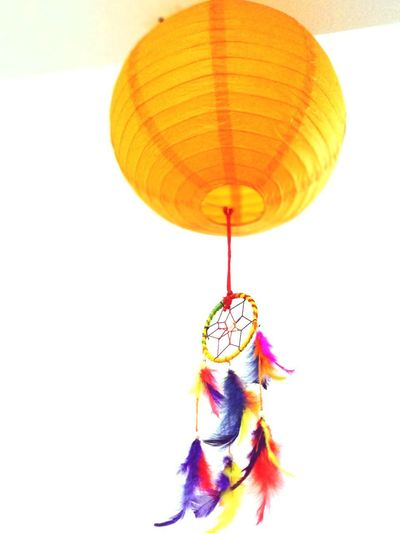 Diwali celebration Night Lights Lamp Pettles Hanging Lamps Wonderful Best Combination Multi Colored Hanging White Background Close-up