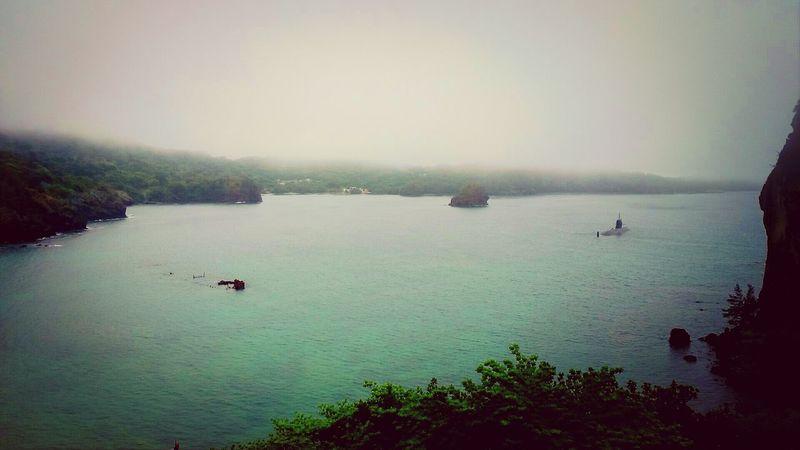 境浦の沈船と潜水艦