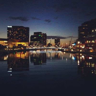 The night is clear and calm Yarra Night Melbourne
