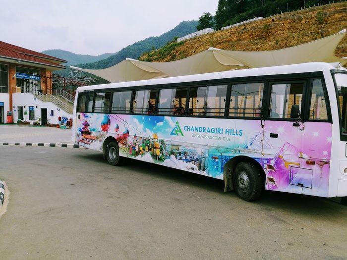 Transportation Mode Of Transport Mountain Multi Colored Art Is Everywhere ArtWork People Sky Outdoors Chandragiri Hill Kathmandu Nepal