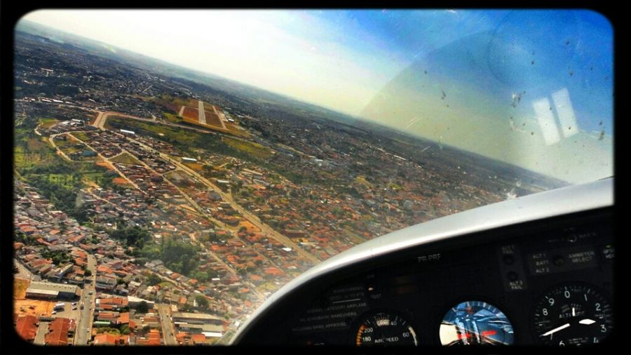 Flying Airplane Landing Cirrus