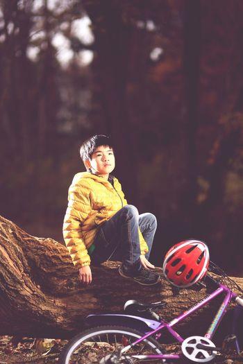 キッズ Portrait 十三塚公園 ストロボ 名取 Bicycle
