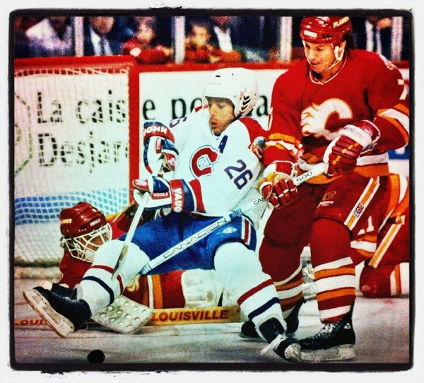 Throwback Thursday: Mats Naslund in '89 playoffs vs the Flames. One of my all-time favourite Habs.