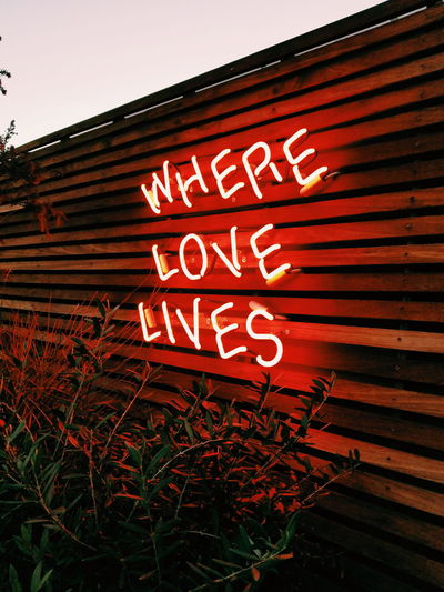 ... in you! Love Signs Light Lights Neon Sign Neon Neon Lights Red Nature Text Red No People Outdoors Day Sky