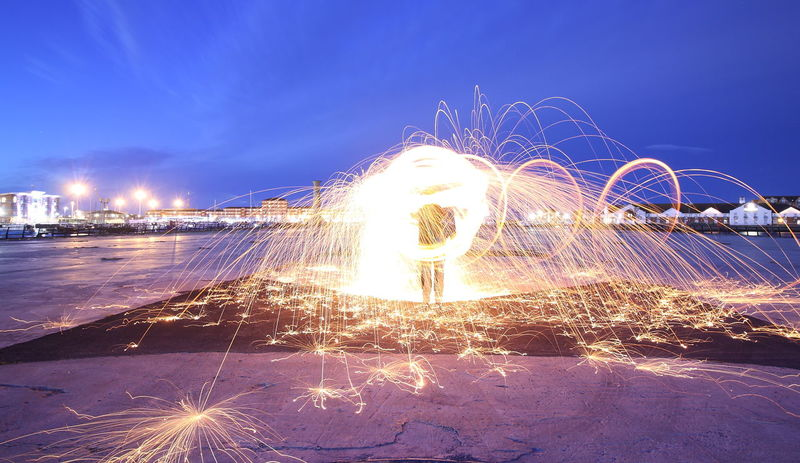 wire wool heaven EyeEm Best Shots Blurred Motion Burning Enjoying Life Fire Firework Glowing Illuminated Land Leisure Activity Lifestyles Light Trail Long Exposure Motion Nature Night One Person Outdoors Real People Sky Sparkler Sparks Spinning Standing Wire Wool