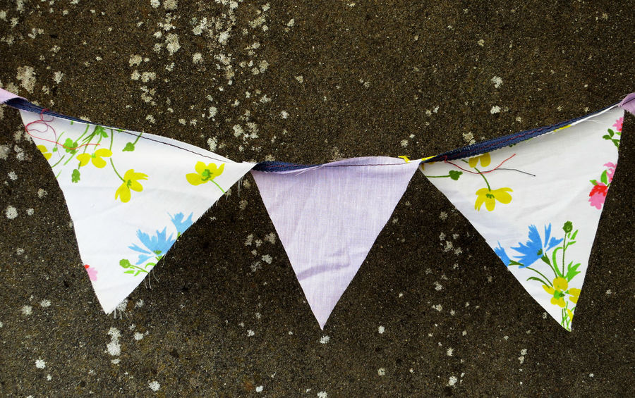 Britain Bunting Colour Fete High Angle View Multi Colored Outdoors Party Wedding Wedding Photography
