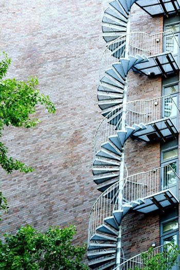 Nature Beauty In Nature Sunlight Sunshine ☀ Day Outdoors Focus On Foreground Spiral Staircase Backgrounds Full Frame Architecture Building Exterior Built Structure Fire Escape Stairs Spiral Stairs Civilization Hand Rail Steps And Staircases Stairway Steps Spiral Staircase