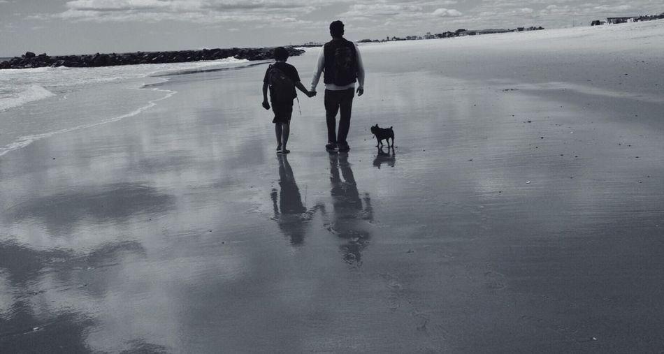 My Boys and white photography] Reflection My boys Beach