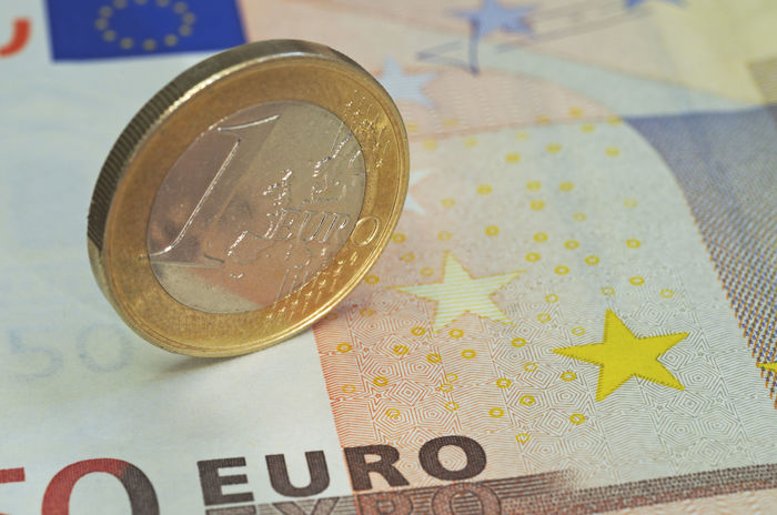 euro coin standing on banknote Arrangement Balance Banknote Close Up Close-up Closeup Coin Conceptual Currency Euro European  Euros Finance Financial Item Gold Colored Investment No People One Euro Paper Currency Savings Standing Still Life Wealth