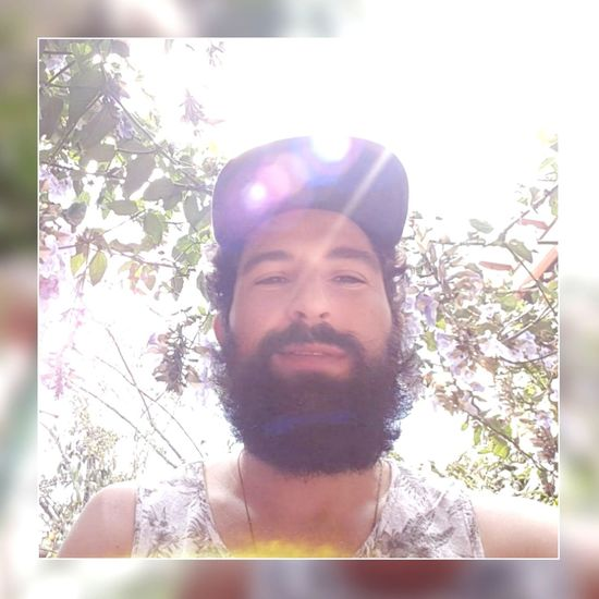 Tree Portrait Flower Men Headshot Beard Front View Mid Adult Mid Adult Men Sky