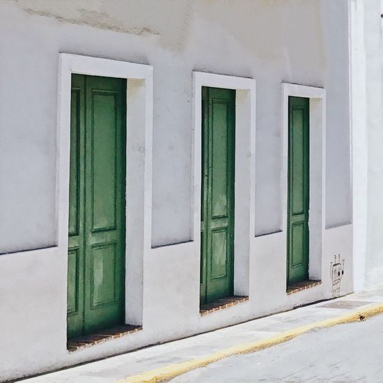 Along the Way. This Is Latin America Door Architecture Entrance Building Exterior Built Structure No People Day Textured  Minimalism Urban Geometry Architectural Detail Architecture_collection EyeEm Best Shots White Color Wall